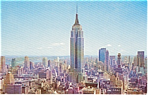 Empire State Building New York City Aerial View Postcard p0048 (Image1)