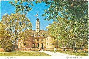 The Capitol Williamburg VA Postcard p0074 (Image1)