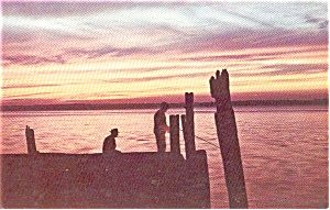Sunset at Morrisville PA Postcard p0140 (Image1)