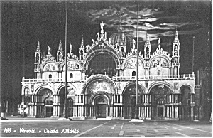 Venice Italy Church Of S Marco Postcard P0205
