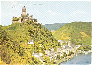 Castle on Mosel River  Postcard p0206 (Image1)