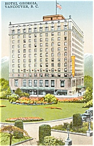 Hotel Georgia Vancouver BC Postcard (Image1)