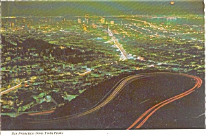 San Francisco CA from Twin Peaks Postcard p0337 (Image1)