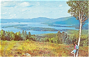 Lake George from Top O the World Postcard p0376 (Image1)