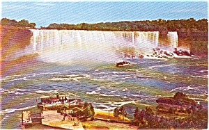 American Falls From Maid Of Mist Postcard P0382