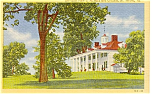 East View Of Mount Vernon Va Postcard P0388