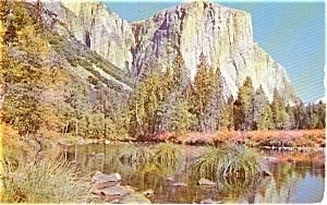 Yosemite National  Park El Capitan CA Postcard p0398 (Image1)