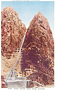 Scenic Incline Royal Gorge CO Postcard p0441 (Image1)