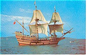 Mayflower II Starboard Side  Postcard p0444 (Image1)