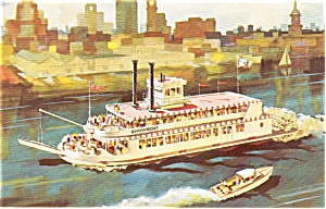 Showboat Steamboat Postcard p0467 (Image1)