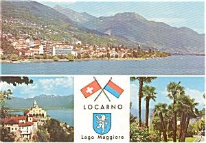 Locarno Switzerland Postcard p0507 (Image1)