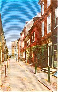 Elfreth s Alley  Philadelphia PA Postcard p0508 (Image1)