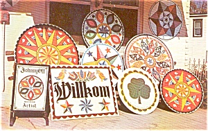 Pennsylvania Dutch Hex Signs Postcard (Image1)