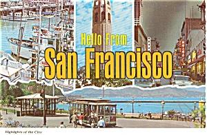 San Francisco Highlights Postcard p0533 (Image1)