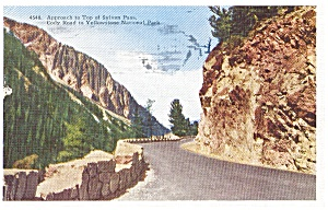Approach to Top of Sylvan Pass WY  Postcard p0568 (Image1)