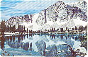 Mirror Lake Snowy Range Wyoming  Postcard p0570 (Image1)