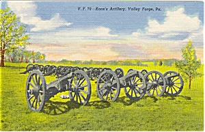 Knox S Artillery Valley Forge Pa Postcard P0585