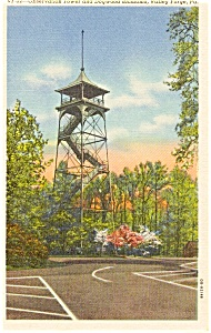 Observation Tower Valley Forge PA Postcard (Image1)