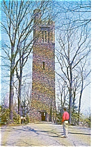 Bowman S Tower Washington Crossing Pa Postcard P0609