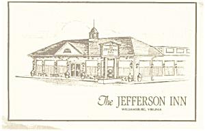 Jefferson Inn Williamsburg VA Postcard p0636 (Image1)