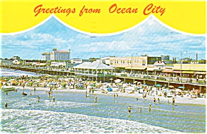 Greetings From Ocean City NJ Postcard (Image1)