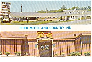 Feher Motel and Country INN NJ Postcard (Image1)