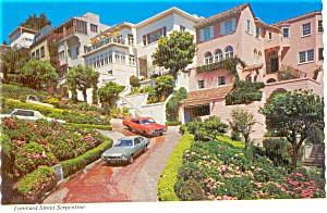 Lombard Street Serpentine San Francisco CA Postcard p0729 (Image1)