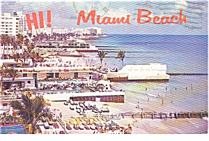 Miami Beach Fl Postcard P0757