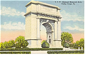 National Memorial Arch Valley Forge PA Postcard p0759 (Image1)