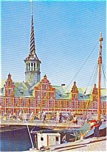 Stock Exchange Copenhagen Denmark Postcard p0772 (Image1)