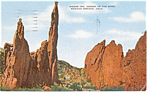 Garden Of The Gods Hidden Inn Co Postcard P0818