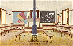 Interior Camp School Valley Forge PA Postcard (Image1)