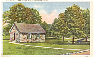 Old Camp School Valley Forge PA Postcard (Image1)