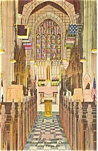 Washington Chapel Valley Forge PA Postcard p0833 (Image1)