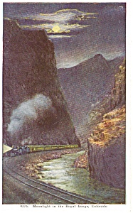 Moonlight in Royal Gorge CO Postcard p0838 (Image1)