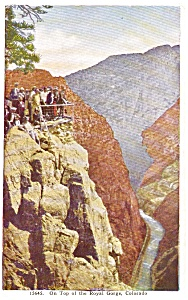 Top View of Royal Gorge CO Postcard p0839 (Image1)
