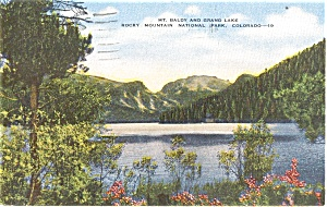 Mt Baldy Grand Lake CO Postcard (Image1)