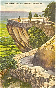 Lover's Leap Lookout MT GA Postcard (Image1)