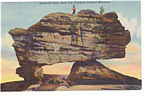 Balanced Rock Lookout MT GA Postcard (Image1)