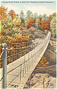 Swing Along Bridge Lookout MT GA Postcard (Image1)