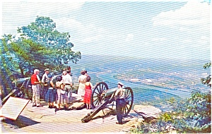 Lookout Mt Civil War Canons Postcard (Image1)