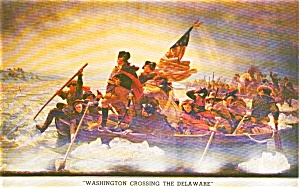 Washington Crossing the Delaware Postcard p0881 (Image1)