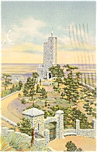 Will Rogers Shrine Of The Sun Postcard P0886