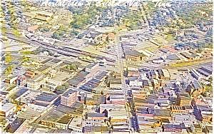 Bristol TN VA Aerial View Postcard p0965 (Image1)