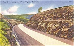 Highway Scene Fayette County GA Postcard (Image1)