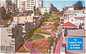Lombard Street San Francisco Postcard p0983 (Image1)