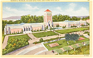 Memorial Museum  San Francisco CA Postcard p0988 (Image1)