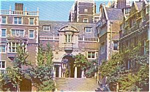 University of Pennsylvania Men s Dorms Philadelphia PA Postcard p1003 (Image1)