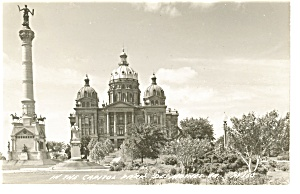 Des Moines IA State Capitol  Real Photo Postcard p10068 (Image1)