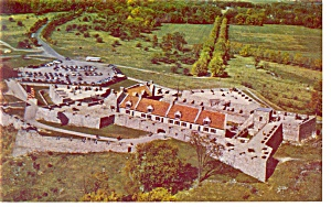 Fort Ticonderoga NY Aerial View Postcard p10085 (Image1)